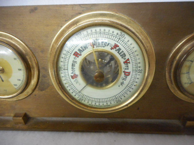 Vintage Weather Station Thermometer/Humidity/Barometer Made in Western Germany