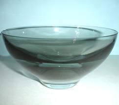 "Kate Spade Lenox Castle Creek Crystal Bowl Smoke Grey 6.5""W New in Box - $64.90"