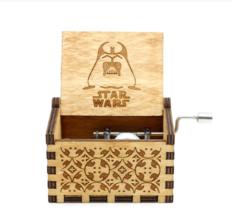 "Hand-operated Wood Game "" Star Wars"" Music Box - $7.87"