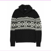 $265 Polo Ralph Lauren Mens Nordic Print 1/4 Zip Pullover Sweater Black/... - $155.10