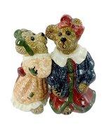 Boyds Bear Bearware Pottery Works Louella & Hedda - The Secret Salt & Pe... - $12.99