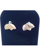 Solis 9k Carat Yellow Gold Maple Leaf Earrings & Butterfly's 0.51g - $30.12