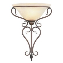 Livex Lighting 6182-58 Wall Sconce with Vintage Scavo Glass Shades, Imperial Bro - $138.95