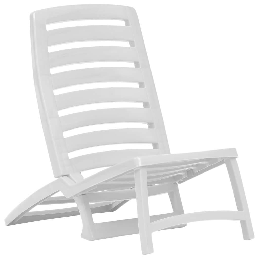 vidaXL 4x Folding Beach Chairs Plastic Beach Seat Outdoor Chair Multi Colors image 2