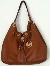 Michael Kors Camden Large Leather Drawstring Luggage Brown Gold Tote Bag Nwt - $229.99