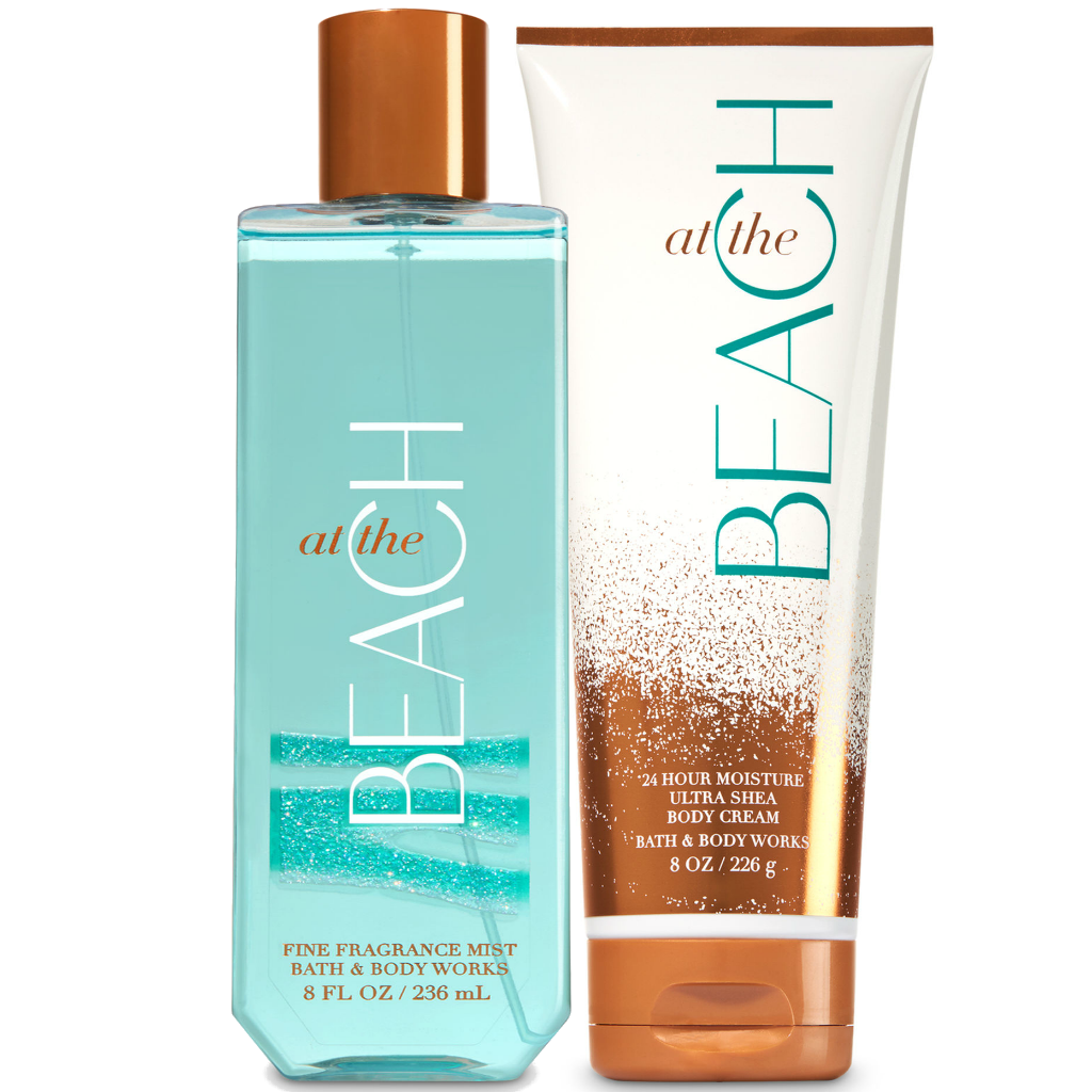 BATH & BODY WORKS At The Beach Body Cream + Fine Fragrance Mist Set