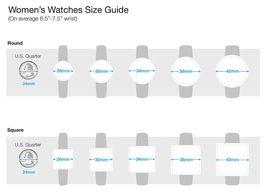 I. N.c. Damen Silberfarben 36mm Armband Art Geometrische Uhr Neu image 5
