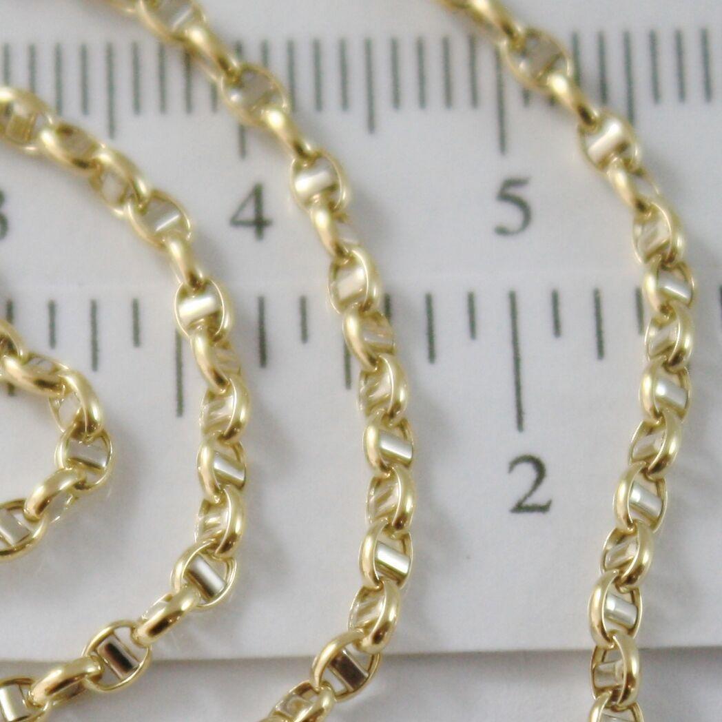 Gold Chain Yellow White 18K Marinara Crosspiece 40 45 50 60 cm Thickness 2.5 MM