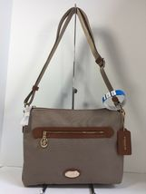 New Coach Crossbody Bag Fume Nylon F37337 Stone Brown B2A image 11