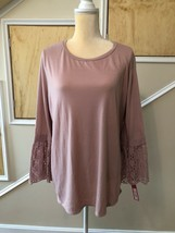 Infatuation Scoop Neck Womens Pink  Scoop Neck Blouse Sz Large NWT - $14.50