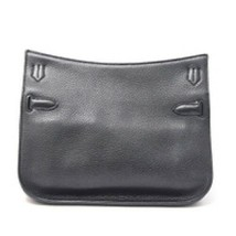HERMES Taurillon Clemence Jypsiere 28 Black O Carved seal Shoulder Bag Silver  image 2