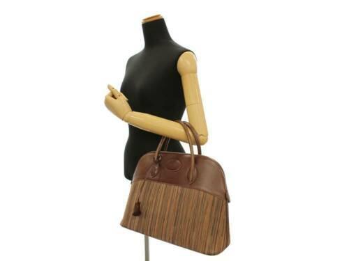 HERMES Bolide 35 Vibrate Brown Handbag Shoulder Bag #D Authentic 5473007 image 12