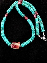 Native American Sterling Silver Turquoise Bead ... - $196.02