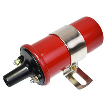 Oil-Filled Canister Style Female Remote Ignition Round Coil w/ Mounting Bracket image 2
