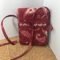 VERA BRADLEY RED CROSSBODY MESA RED PAISLEY QUILTED SHOULDER BAG - $12.00