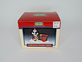1995 Lemax Porcelain Feeding Birds Mom daughter bench park              ... - $14.84