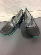 Merrell Women's Grey / Teal Ceylon Sport Mary Jane Mesh Sport Flat Shoes 9 M LNC - $34.95