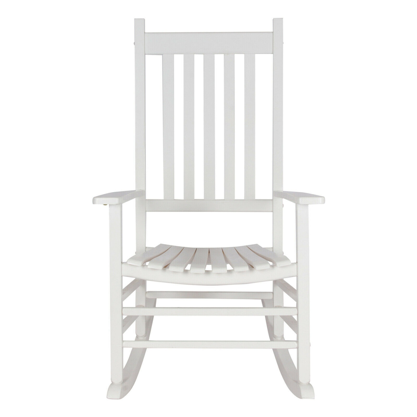 Outdoor Rocking Chair Classic White Traditional Porch Relax Backrest Sturdy Wood