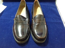 Lands' End Men's Dark Brown Shiny Penny Loafers Sz 11D