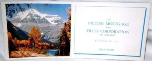 Ink Blotter British Mortgage and Trust Corporation of Ontario Stratford Mountain