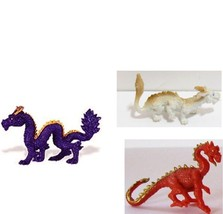 Doll House Shoppe 3 Toy Dragon Set different colors Micro-mini Miniature - $3.36