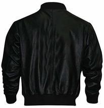 Rocky Balboa Black Tiger Bomber Leather Jacket image 1
