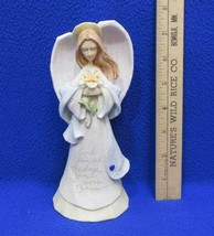 September Birthday Angel Figurine God Smiled The Day You Were Born Enesco  - $12.86