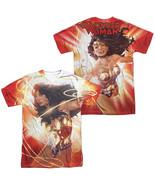 DC JLA Justice League Wonder Woman Lasso Glow Sublimation ALL Front Back... - £25.82 GBP+