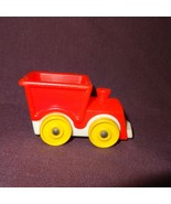 "Vintage Train Engine Fisher Price  Little People Toy 1"" Red - $6.89"