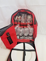 Classic Picnic Backpack for 4 four w red Verizon wireless + supplies for... - $66.83