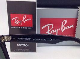 New Ray-Ban Polarized Sunglasses RB 2140 901/58 54-18 WAYFARER Black Frame/Green image 8