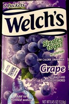 Welch's Grape Singles to Go Drink Mix 2 Box Pack Great Taste Low Calorie... - $8.81