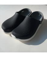 Crocs Classic Clogs  Lite Ride Sz Women 7 Men 5 Black Gray Excellent Condition  - $44.99