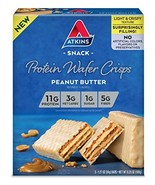 Atkins Protein Wafer Crisps, Peanut Butter, 5 Count - $14.60