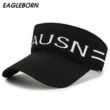 Hat Women Summer Empty Top Hat Letter Topless Running Sun Hat Knitting P... - $17.48