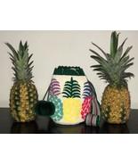 Authentic 100% Wayuu Mochila Colombian Bag Medium Size Tapestry Pineappl... - £49.71 GBP