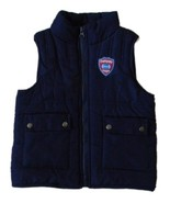 Toddler Boys Size 3T Navy Blue Zip Front Puffer Vest - $5.99