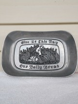 "Vintage Wilton ARMetale Pewter  Bread Tray ""Give Us This Day Our Daily B... - $6.19"