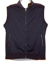 Raffi Men's Blue White  Lining  Thin Zipper Cotton Vest Size XL NEW - $108.65