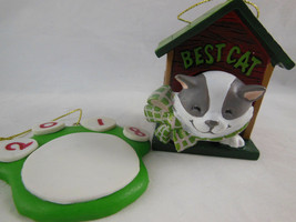"""Best Cat 2010 American Greetings Cards Co 2.75"""" Christmas Ornament + paw print - $7.42"""