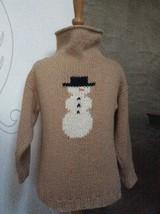 Cotton SNOWMAN SWEATER 4 T Children's Boutique HEARTHSIDE HANDWORKS Funn... - $38.55