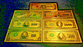 MINT PROOF SET W/COA>GOLD$500-$1Billion~Rep.*Banknotes~RAISED DETAIL~U.S... - $19.66