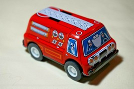 """Vintage Tin Toy New Sanko 3"""" Metal Friction Red Fire Engine Truck Made i... - $12.82"""