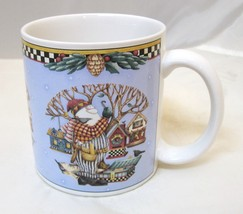 Debbie Mumm 1998 Santa Building Birdhouses Sakura Christmas Coffee Mug 3... - $29.69