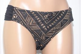NEW Becca Rebecca Black Crochet La Boheme Ruched Tab Side Hipster Bikini XL - $14.80