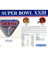 Super Bowl 23 Patch and Game Details Card - $31.63
