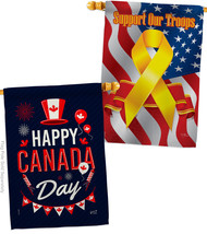 Canada Day - Impressions Decorative Support Our Troops House Flags Pack ... - $59.97