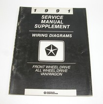 1991 Chrysler Dodge Van/Wagon Service Manual Supplement Wiring Diagrams FWD AWD - $14.80