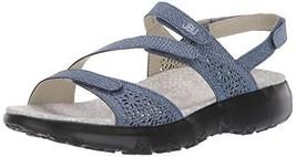 JBU by Jambu Women's Sweet Pea Flat Sandal, Indigo, 9 M US - $49.16