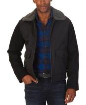 New $228 Nautica Black Mixed Media Removable Sherpa Collar Bomber Jacket Sz L - $29.70